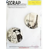 collection badge LPF et scrapbutton